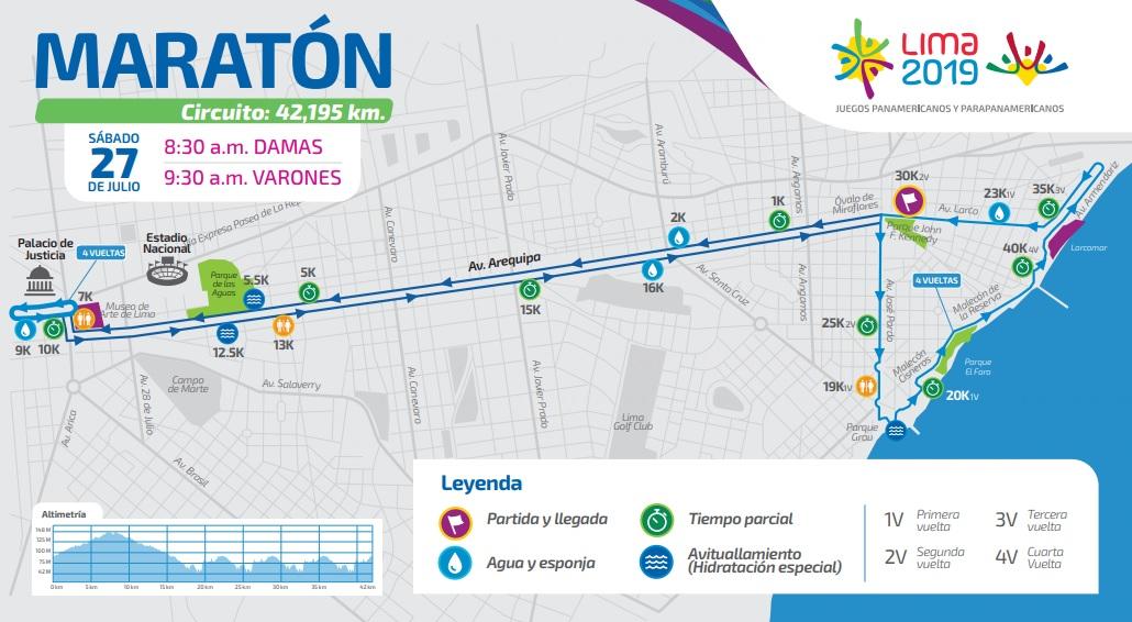 Este será el recorrido de la maratón en los Juegos Panamericanos Lima 2019