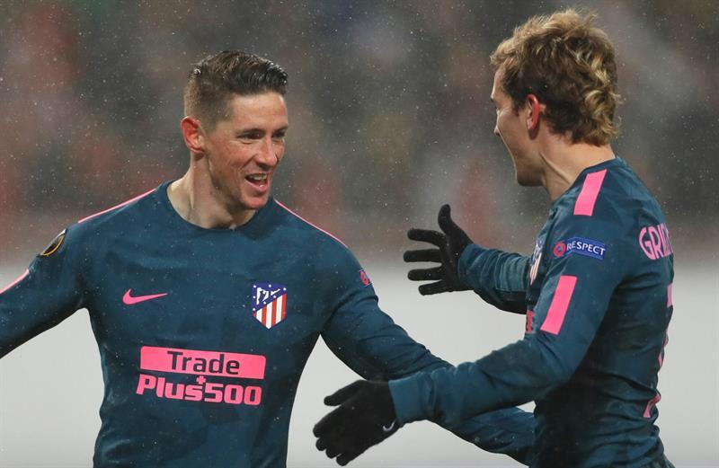 Europa League: Atlético Madrid goleó y clasificó