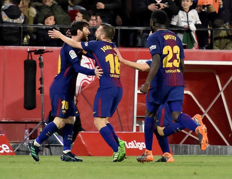 Liga española: Barcelona rescató un empate en su visita a Sevilla