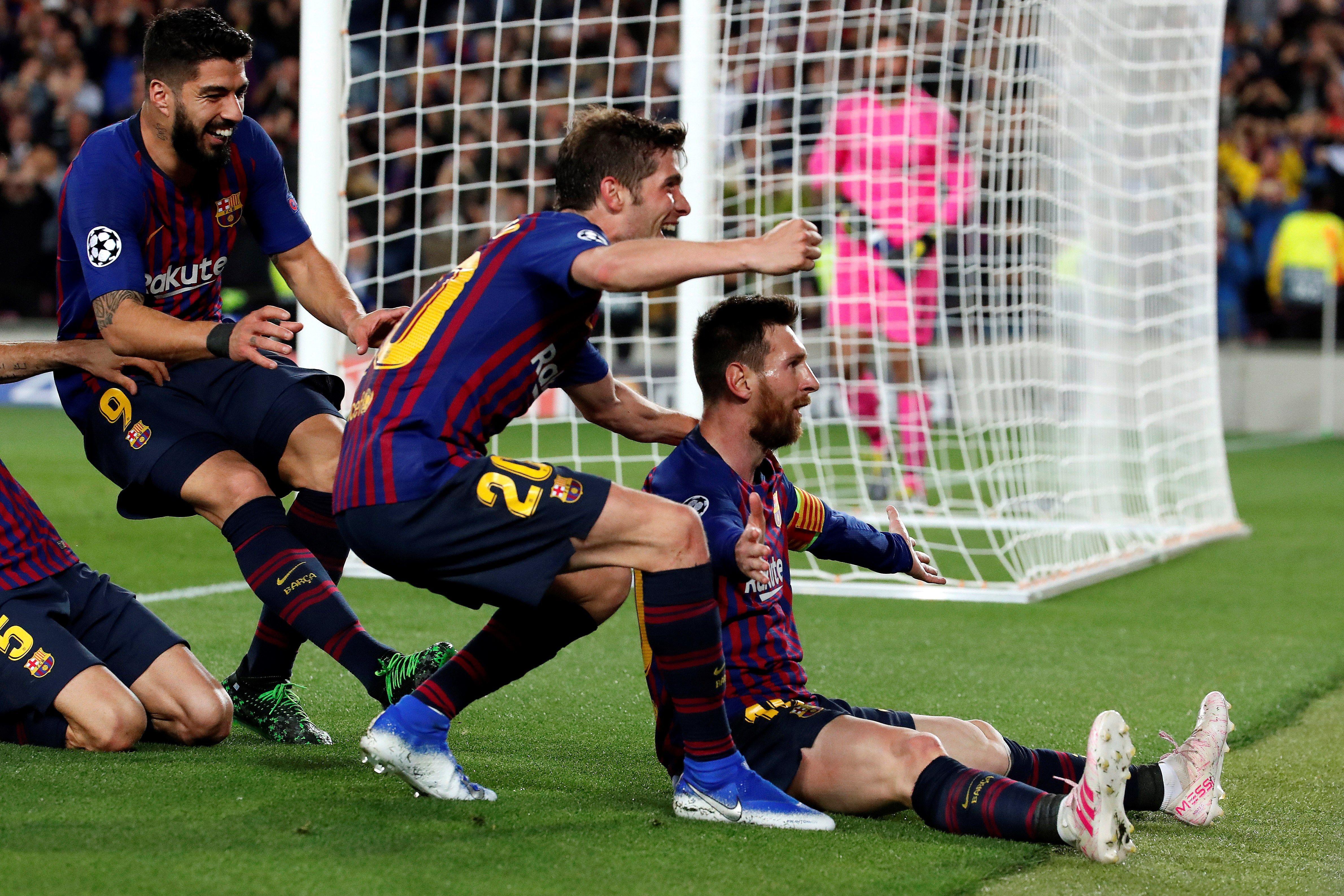 Champions League: Messi, con un doblete, y Luis Suarez acercan al Barcelona a Madrid