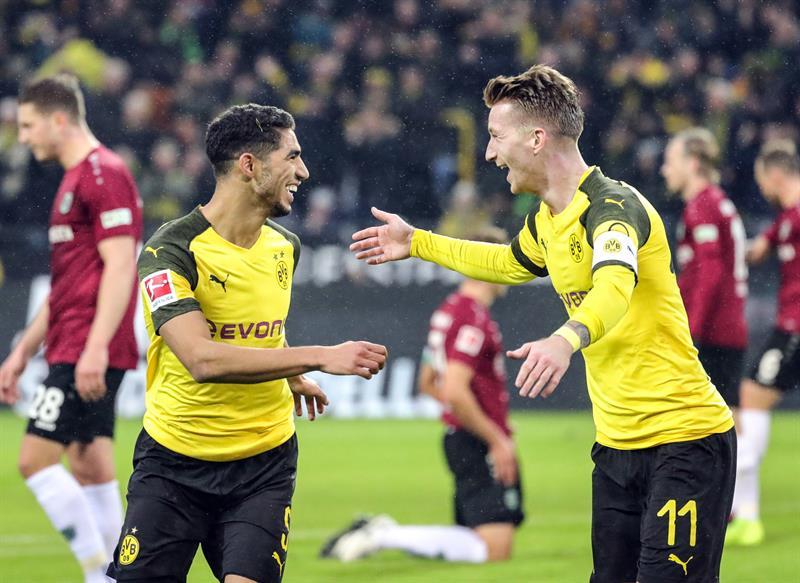 Bundesliga: Dortmund y Bayern golearon y siguen es disputa por el título