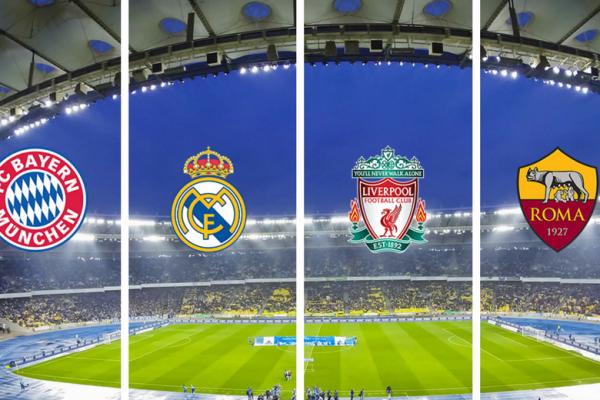 Las llaves de semifinales quedaron definidas: Bayern Munich vs Real Madrid y Liverpool vs Roma.