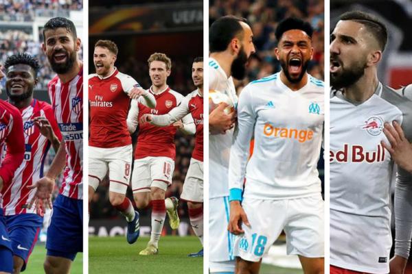 Atlético de Madrid vs Arsenal y Marsella vs Salzburgo serán las semifinales.