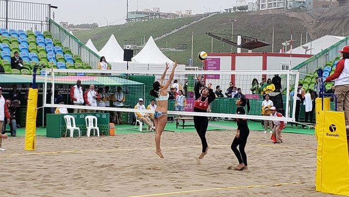 Lima 2019: Perú se estrena con contundente triunfo en vóley-playa femenino