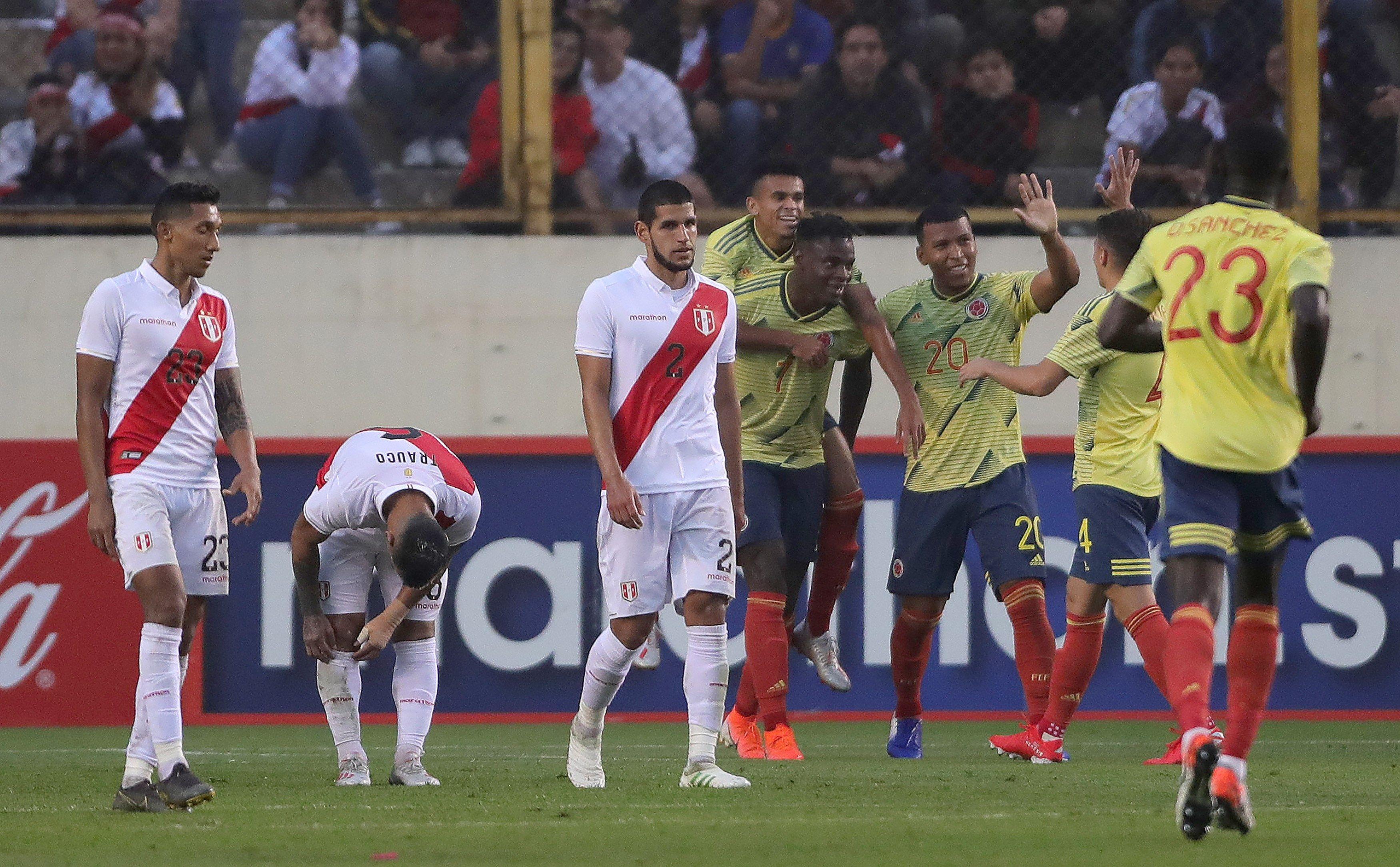 Amistoso: Perú cayó goleado ante Colombia