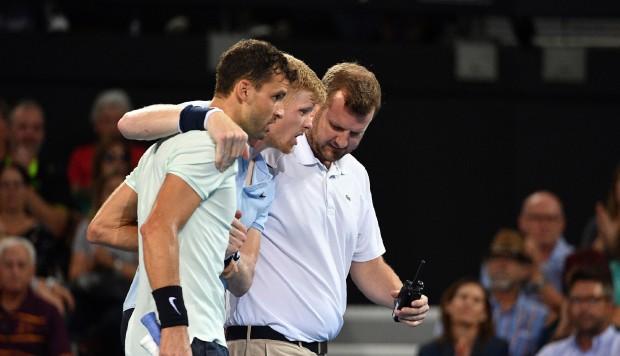 Tenis: el fair play de Grigor Dimitrov con Kyle Edmund